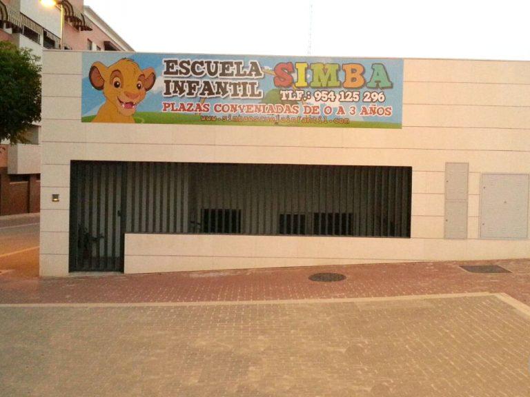 Lona publicitaria Escuela Infantil
