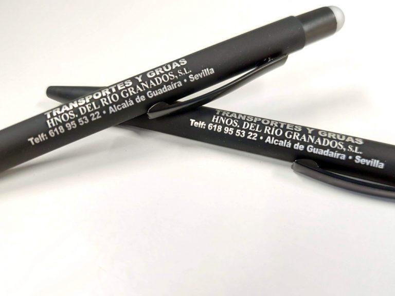 Bolígrafo Marcados Láser Gris
